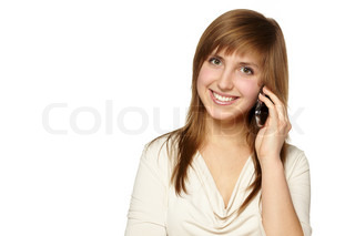 Young woman phone call
