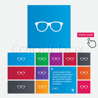 Eyeglass Frame Websites : Retro glasses sign icon. Eyeglass frame symbol. Metro ...