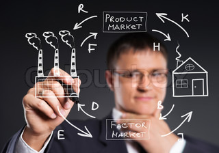 Businessman working with a business plan. Financial, currency, technology and money concept.