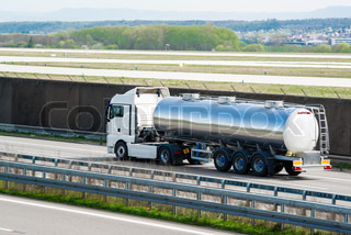 tanker truck on highway