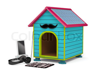 Dog kennel in Hipster style