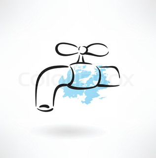 faucet grunge icon