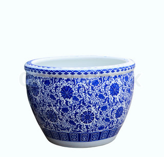 old chinese flowers pattern style painting on the ceramic bowl,porcelain isolated white object