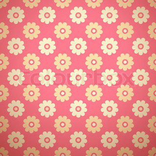 Feminine floral vector seamless pattern (tiling)