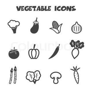 vegetable long shadow icons flat vector symbols vector