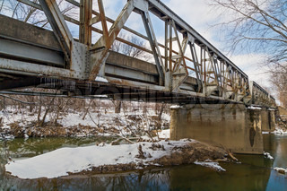 Old Triple Pony Truss Bridge