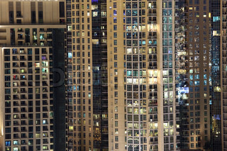 Highrise residential buildings in the city