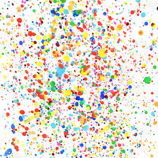 Colorful drops of paint
