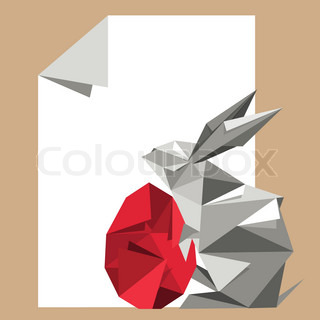 Origami Rabbit With Red Egg