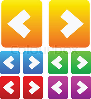 Bold arrows, arrow icons, buttons
