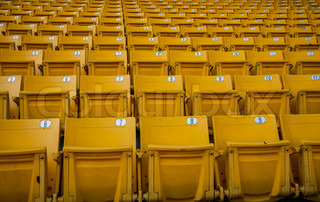 Yellow seat in arena sport