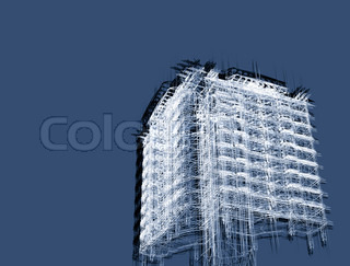 3d render abstract modern architecture background