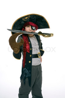 Image of 'costume, pirate, kid'