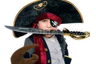 Image of 'pirate, fastelavn, children'