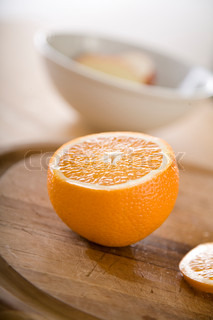 Image of 'orange, fruit, indoor'