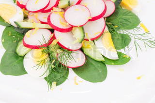 Close up of radish salad.