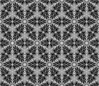 Abstract vector geometric background from flowers. Floral seamless geometric pattern. White backdrop with grey ornament. Decorative design element. White and gray hand drawn texture.