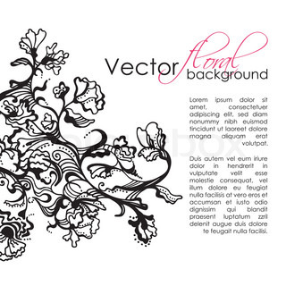 Vector Floral Sketch Hand Drawn Background