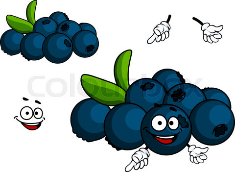 Cartoon Blueberry character