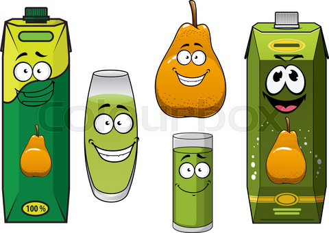 Pear fruit, juice and drinks