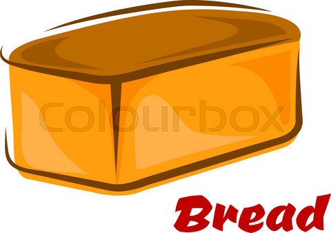 Cartoon loaf of white wheat bread