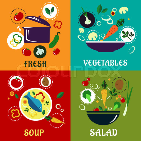 Cooking concept with vegetables and ingredients