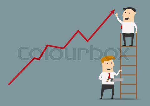 Unfair business practices flat concept