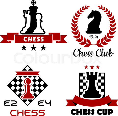 Chess cup, club and tournament symbols