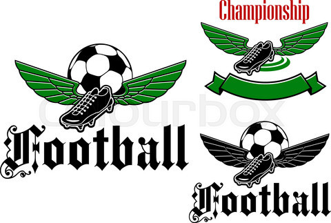 Football boot emblem with wings