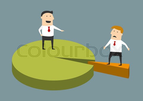 Successful and struggling businessman concept