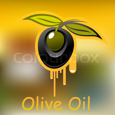 Olive fruit and dripping olive oil
