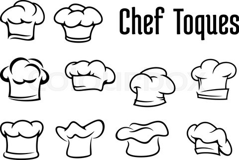 Chef traditional toques, caps and hats