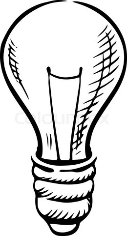 Sketch of light bulb icon