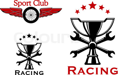 Racing and motorsport symbols or icons