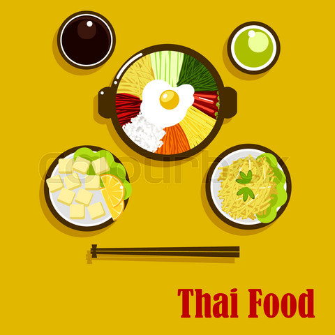 Thai cuisine dishes and sauces