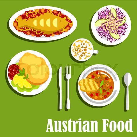 Austrian cuisine dishes and beverages