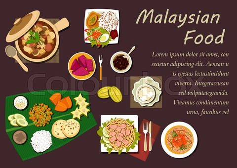 Malaysian cuisine dishes and desserts